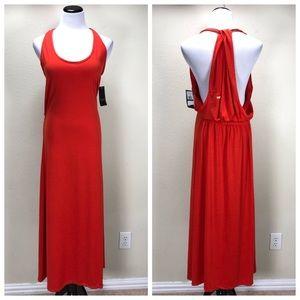NWT Rocawear Red Draped Back Tank Maxi Dress